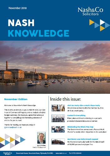 Nash Knowledge October